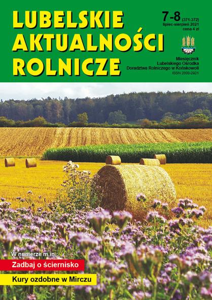 Czasopismo Lubelskie Aktualności Rolnicze, nr 7-8 2021